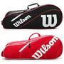 Bolso Raquetero Wilson Advantage Iii Team X6 Raquetas Tenis