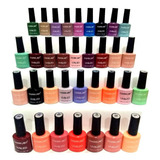12 Esmaltes Semipermanentes Base O Top Coat Para Cabina Uv