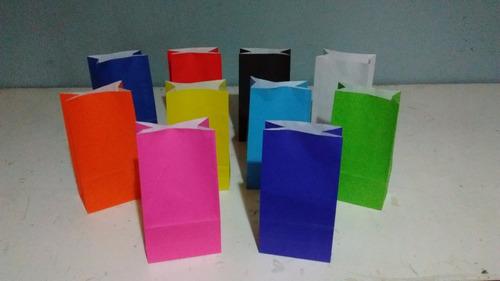 380254b98 Bolsa De Papel Color Sin Manija (24x12x7) X 10 Unidades