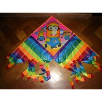 Barrilete Minion Flecos 1m X 0,50 Animal Tela Avion