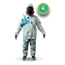 Mameluco Overol Descartable Laminado Microgen Certificado Ce