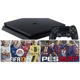 Playstation 4 Slim 500gb + Fifa 17 + Uncharted + 2 Joystick