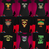 Remeras Tiger Army Estampada Musica Psychobilly Rock Metal