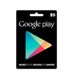 Tarjeta Google Play Store Gift Card 5 Usd Usa