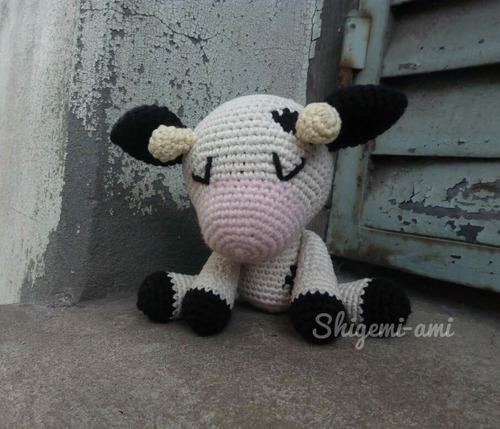 Vaca Amigurumis Tejido Al Crochet - $ 950,00 en Mercado Libre   429x500
