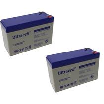 Pack Oferta 2 Baterias De Gel Alarma 12v 7ah Ups Cctv Nueva