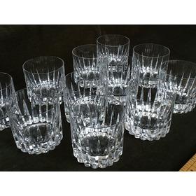 Vasos De Wisky Antiguos De Cristal Tallado