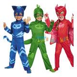 Pj Masks Disfraz Original Traje De Los Heroes En Pijamas