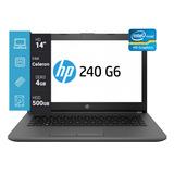 Notebook Hp 240 G6 Intel N3060 14 4gb 500gb