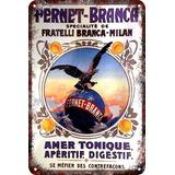 Carteles Antiguos Chapa Vintage Fernet 22.5x15cm Dr-66