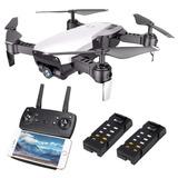 Drone Simil Dji Mavic Air Filma Hd Luz Auto Retorno Con2 Bat