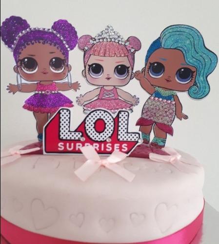 b04c8c988bf Adorno Torta Cake Topper Muñecas Lol Surprise Con Strass