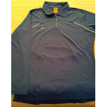 Buzo Jersey Nike Dri Fit Azul Francia Mujer Talle Xl Orig!