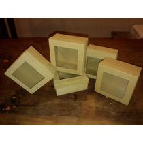 Caja Cartón Microcorrugado T Visor 12x12x6 Color Natural