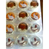 Rosarios Plástico, Blanc X12 En Caja Acrílico Papa Francisco