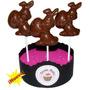 Chupetines De Chocolate Conejo Con Huevo De Pascua Jardines