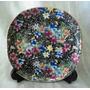 Par Platos Decorativos Porcelana Tsuji Fileteado Oro (290f)