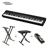 Piano Casio Privia Px160 88 Teclas + Soporte Banqueta Cuotas