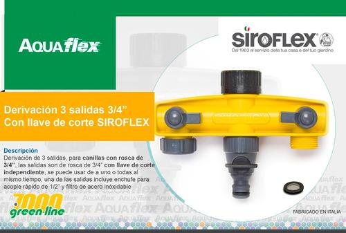 Derivador 3 Vias Para Canilla 3/4 Siroflex 4520 Aquaflex