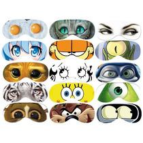 Antifaz Para Dormir Con Diseño De Ojos.