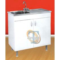 Mueble Cocina Bajomesada C/bacha Y Mesada Incl. 0,80x0,50m!!