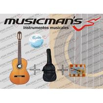 Guitarra Criolla Cielito + Funda + Afinador Nueva En Stock!!