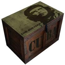 Baúl Madera Vintage Grande P/candado Che Guevara M-19