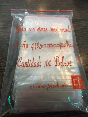 0cf0d7b29 Bolsas Tipo Ziploc 7x10 Cm /100 Unidades