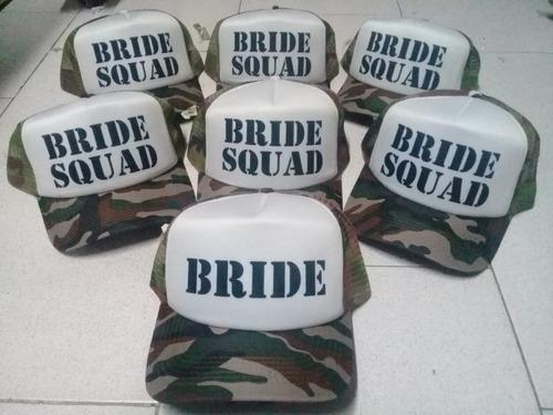 ee01b779b4a2 Gorra Despedida De Soltera Team Bride Squad Bitches Novia en venta ...