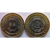 Argentina Moneda 2 Pesos Año 2010 Bicentenario Sin Circular