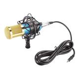 Micrófono Con Accesorios Fifine F-800 Condensador Azul