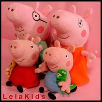 Muñecos De Peluche Peppa Pig George Mamá Y Papá Pig 25 Cm