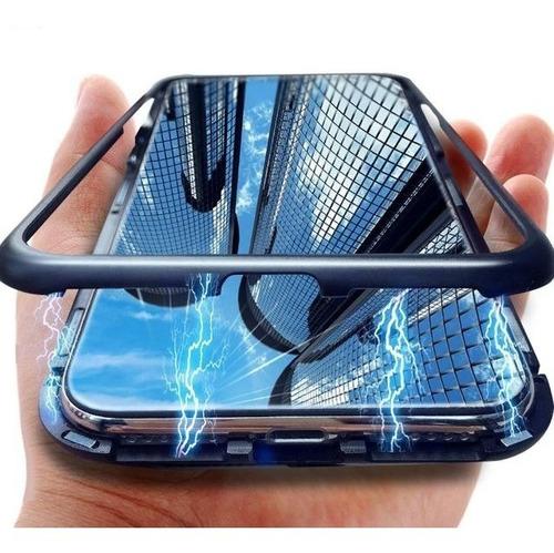 Funda Magnética + Vidrio Full Glue + Cámara Samsung S10 Plus