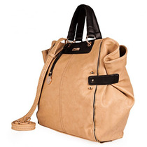 X L Extra Large Cartera Grande Color Natural 100% Cuero Eco