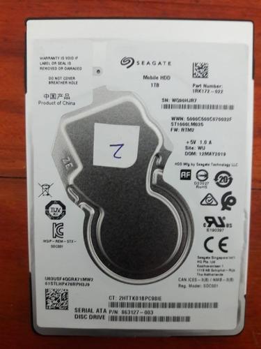 Disco 1 Tb Seagate Notebook Ps3 Ps4 Dvr - Usado Impecable !!