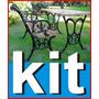 Patas Mesa Jardin Plaza Fundicion Kit Con 4 Tablas