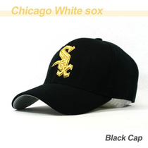 Gorra Visera Mlb Chicago White Sox Baseball Negra Cw06