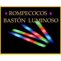 Baston Rompecocos Goma Espuma Cotillon Luz Led X 50!!