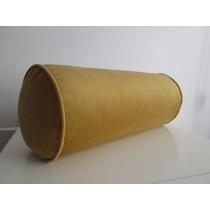 Almohadones Tubo Caramelo Con Funda De Pana Gamuzada 40x18cm