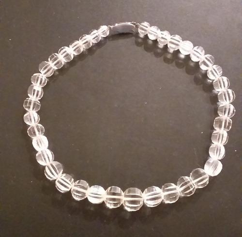 0c1539d638b3 Antiguo Collar Gargantilla Cristal De Roca Y Broche De Plata
