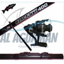 Caña De Pesca Red Fish Combo + Reel + Bolsa De Regalo! - Agm