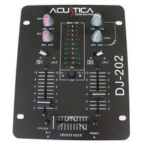 Mixer Dj Acustica Dj-202 2ch Mic Phono 4 Line Out Master Rec