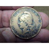 Moneda Argentina 2 Centavos 1884 Ref (a 76)