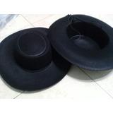 Sombrero Gaucho Ala 8 Negro Paño Lency