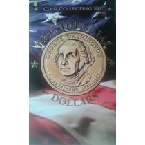 Album Monedas Estados Unidos Serie Presidentes + Manual