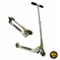 Monopatin De Aluminio Scooter Ruedas Siliconadas, Plegable