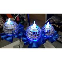 15 Velas Esferas Espejadas N6 Ceremonia De Velas Led 15 Años