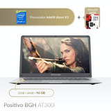 Promo Notebook Positivo Bgh At300 32gb + Microsd 64gb = 96gb