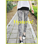 Calzas Estampadas Ralladas Importadas - Leggings-animal Prin