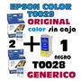 Cartucho Epson C60 Epson T0029 C X2 Ori+ T0028 Generico Neg